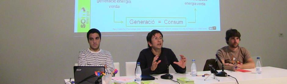 """Presentació de la cooperativa d'energia verda """"Som Energia"""""""