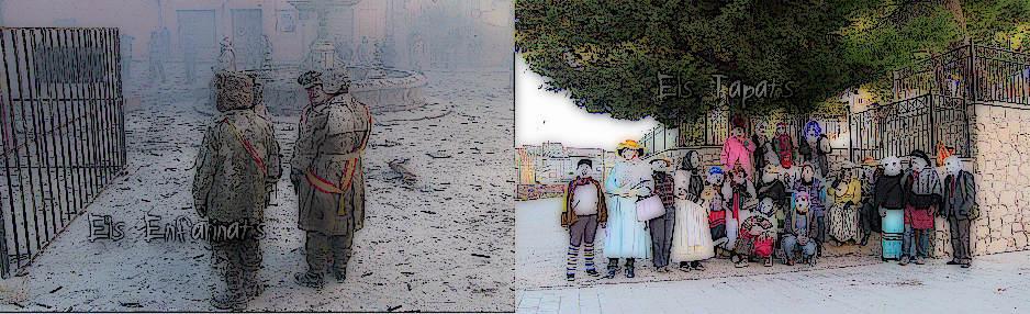 Festes d'Hivern d'Ibi 2012: Els Enfarinats i Els Tapats
