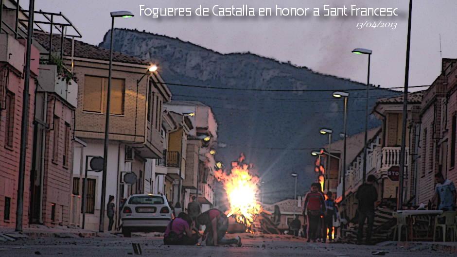 Foguers de Castalla en Honor a Sant Francesc 2013