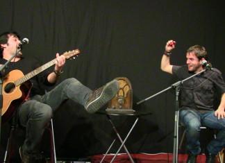 Alcoi crida ben fort al concert dels cantautors Miquel Abras i Cesk Freixas