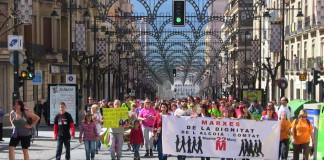 Les marxes de la dignitat creuen les capitals de l'Alcoià i El Comtat