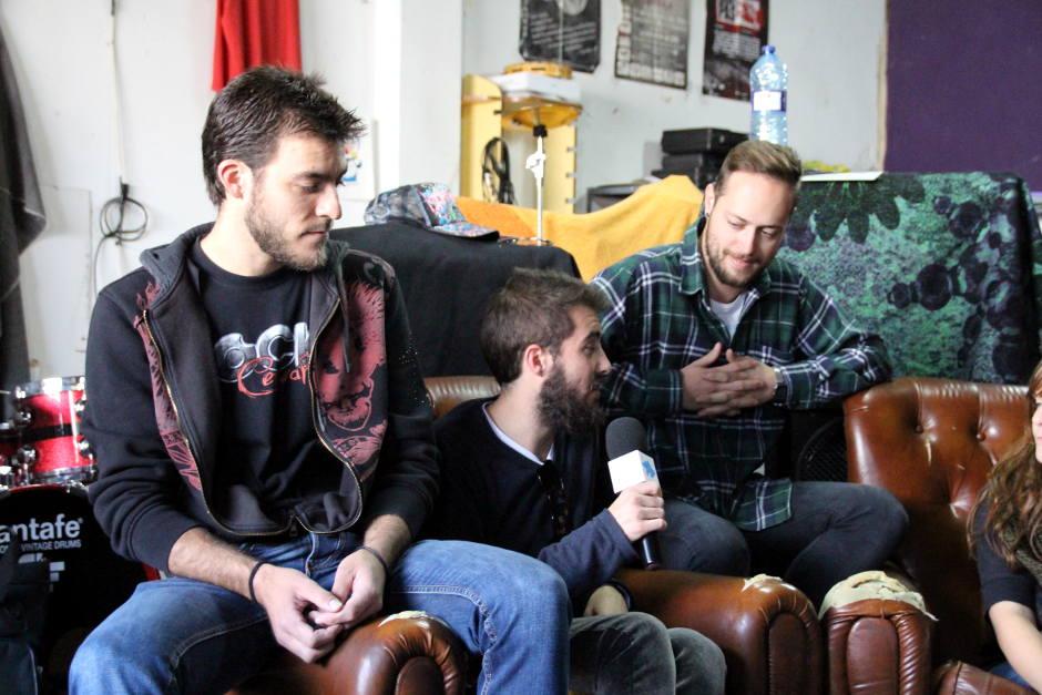 Rubén, Ignacio i Nacho, del grup Malson