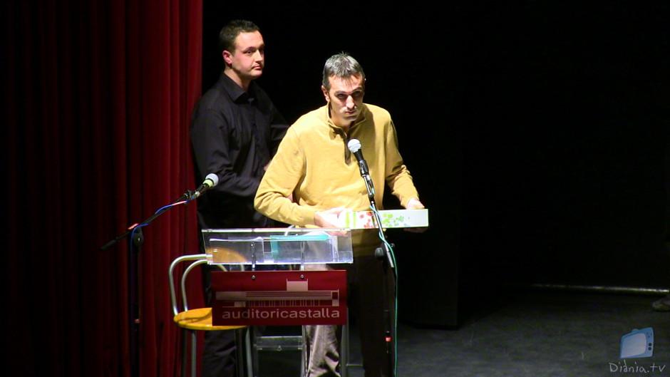 L'autor del teatre, Pablo León, de la colla Mal Passet