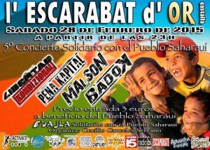 5é Concert Solidari amb el poble saharauí a l'Escarabat d'or de Castalla