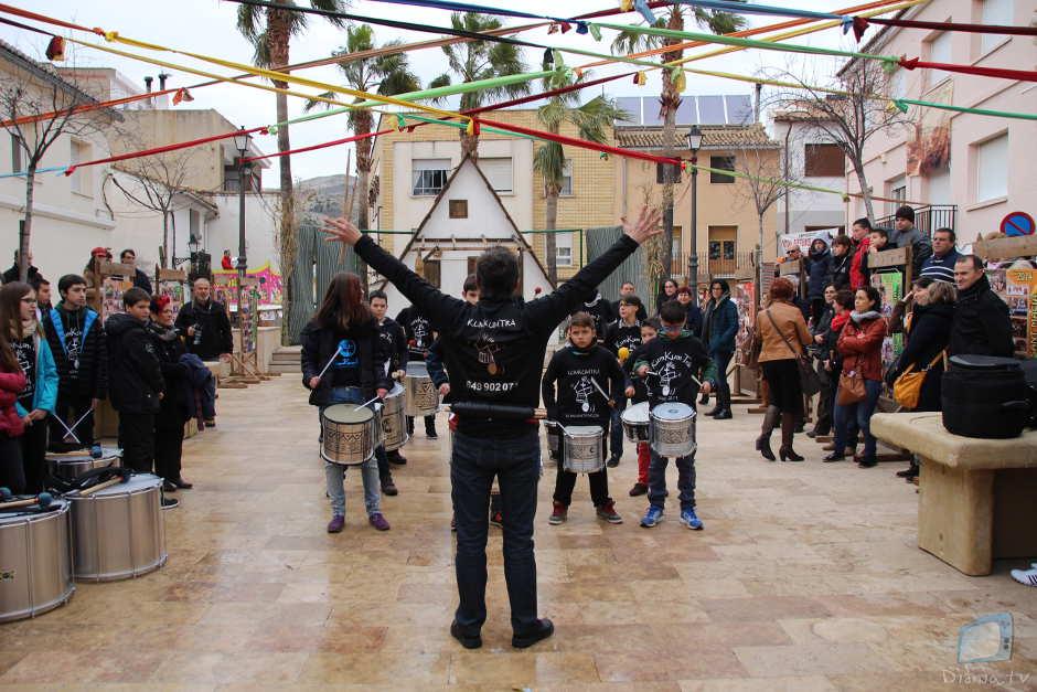 Un moment de l'exhibició del grup de percussió Kumkumtrà