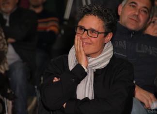 Lusa Monllor durant l'acte de presentació de la seua candidatura