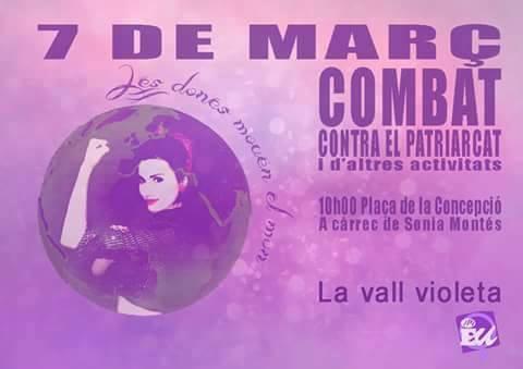 cartell àrea de la dona La Vall Violeta