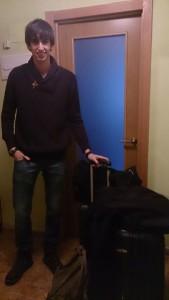 Conrado, moments abans d'emprendre el viatge de partida