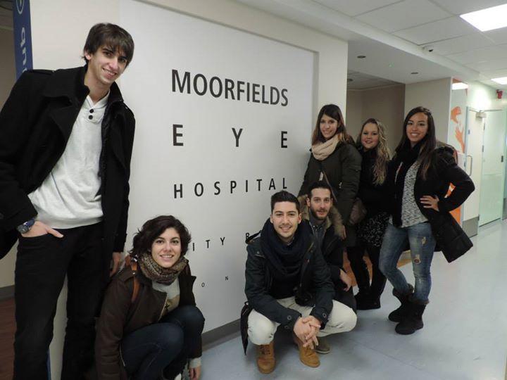 Primer dia a l'hospital de Londres, junt amb companys espanyols i italians