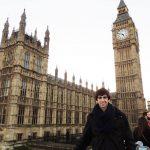 """Conrado Martínez Pascual, primer entrevistat per a la secció """"Postals a Diània"""", al famós Big Ben de Londres"""