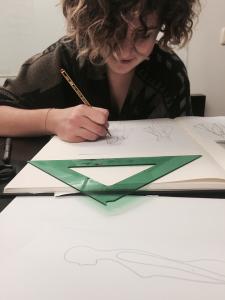 Treballant als projectes de l'Amsterdam Fashion Institute