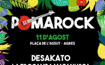 El POMAROCK d'Agres anuncia una nova edició del festival per a l'11 d'agost