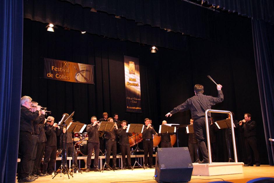 Un moment de l'actuació de la colla Mal Passet al XI Festival de Colles, el passat 7 de març