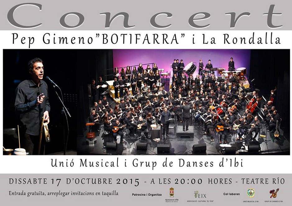 'Botifarra a banda' arriba al Teatre Río junt amb la Unió Musical i el Grup de Danses d'Ibi