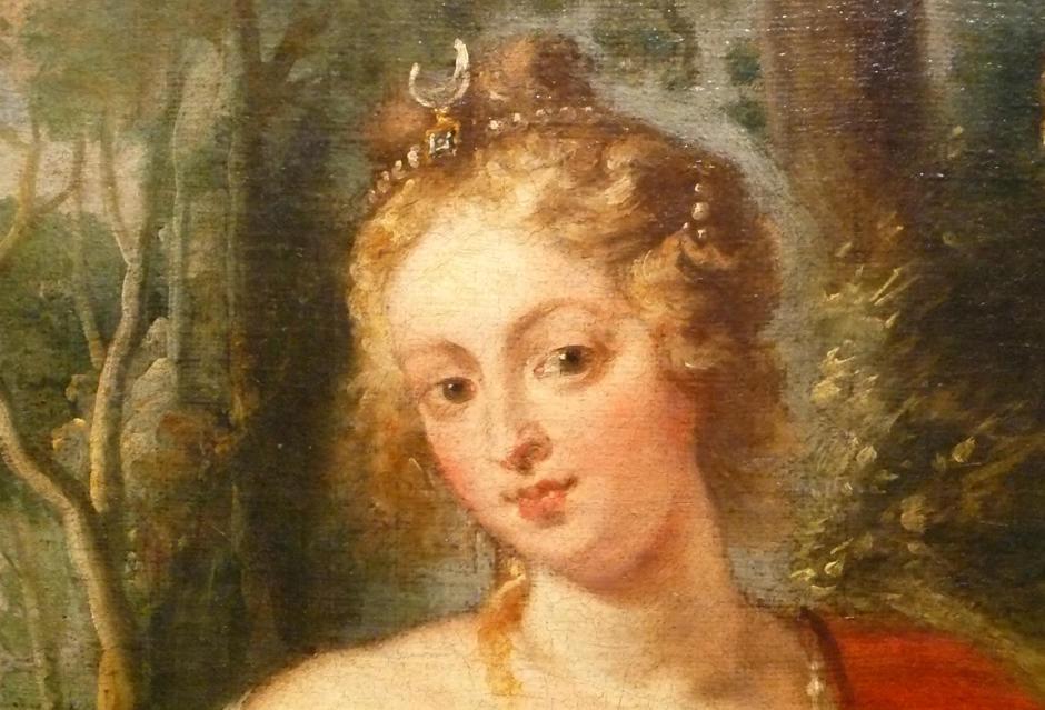 Fragment de Diana caçadora, còpia de Rubens de Juan Bautista Martínez del Mazo, Museu de Belles Arts de Xàtiva (dipòsit del Prado).