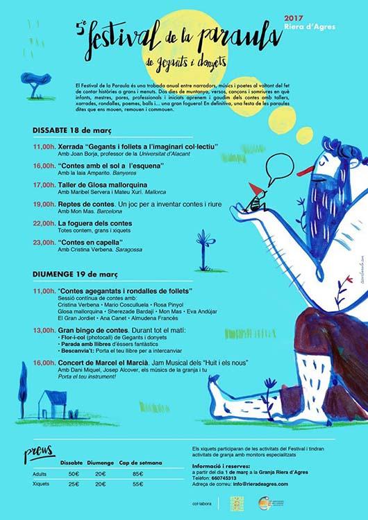 El Festival de la Paraula torna a la Riera d'Agres el 18 i 19 de març