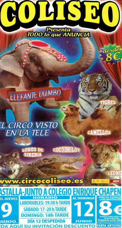 Circ Castalla Coliseo Maltracte Stop Circs Animals