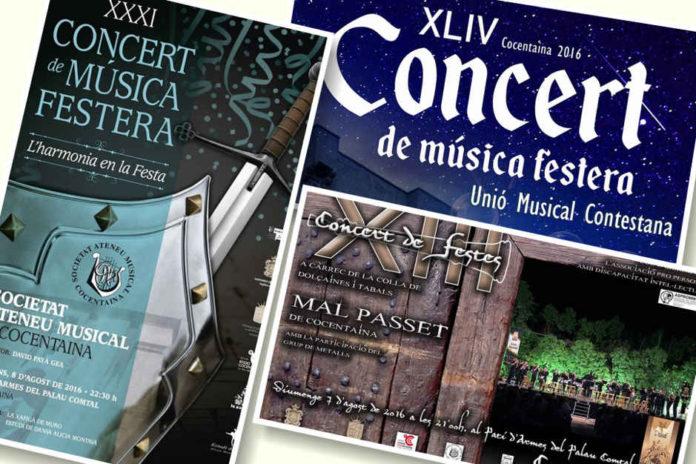 La música festera inunda el Palau Comtal de Cocentaina