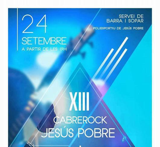 Els festers de Jesús Pobre organitzen el XIII del Cabrerock el 24 de setembre