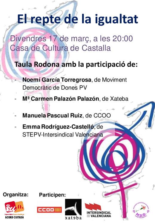 Castalla acull una taula redona sobre els drets de les dones i el repte de la igualtat