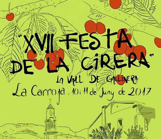 La XVII Festa de la Cirera serà a la Carroja el 10 i 11 de juny