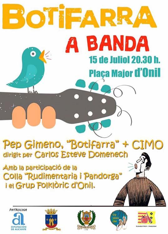 L'espectacle 'Botifarra a banda' arriba a Onil el pròxim 15 de juliol