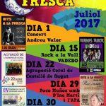 Otos programa un cicle musical de 'Nits a la fresca' al mes de juliol
