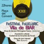 Biar celebra el XXIIé Festival Folklòric el pròxim dissabte 29 de juliol
