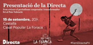 La Directa es presenta al Casal Popular 'La Foraca' de Castalla