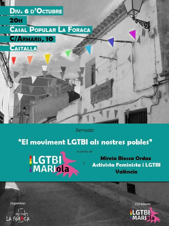 'El moviment LGTBI als nostres pobles' es presenta al Casal Popular La Foraca de Castalla