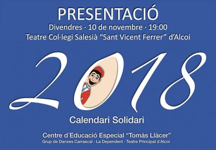 El Centre d'Educació Especial 'Tomàs Llàcer' d'Alcoi presenta el seu calendari solidari