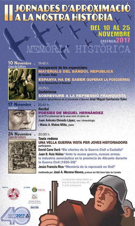 El Centre Cultural Castellut organitza unes jornades sobre Memòria Històrica