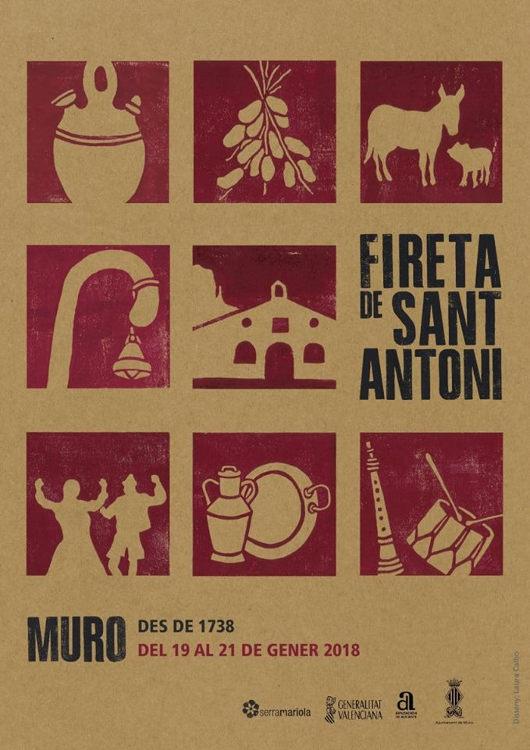 La fireta en honor a Sant Antoni torna a Muro del 19 al 21 de gener