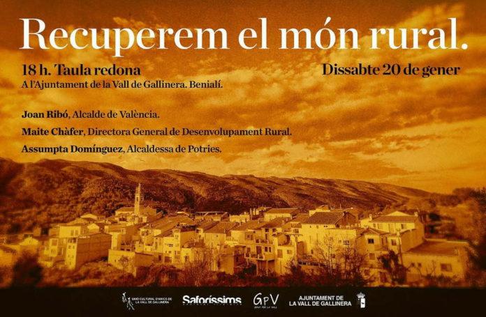 L'acte s'iniciarà a les 18h en les instal·lacions de l'ajuntament de la Vall de Gallinera, a Benialí.