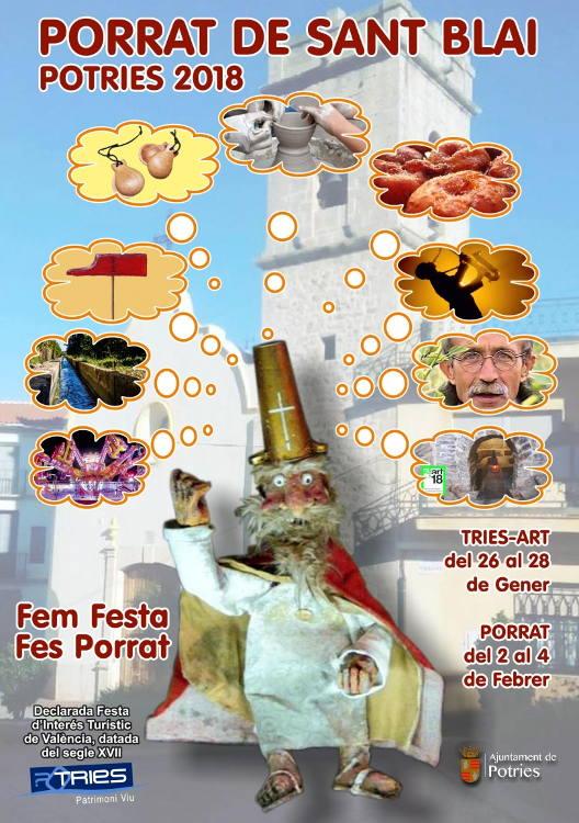 Potries celebrarà el Porrat de Sant Blai el primer cap de setmana de febrer