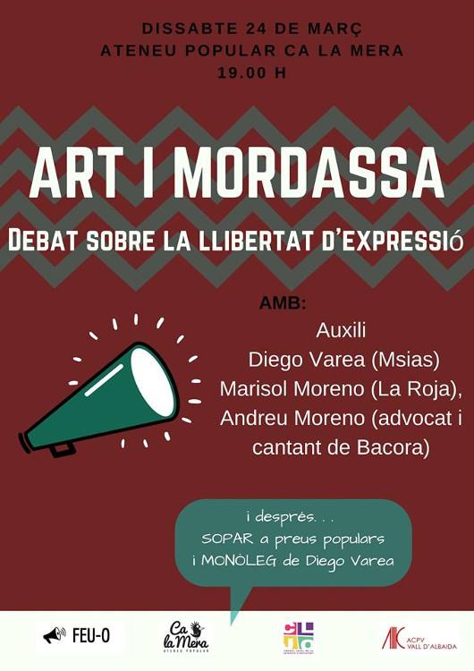 Ca la Mera acull un debat sobre la llibertat d'expressió en l'àmbit artístic