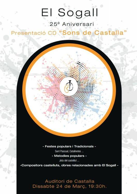 El Sogall presenta 'Sons de Castalla', un CD commemoratiu pel seu 25é aniversari
