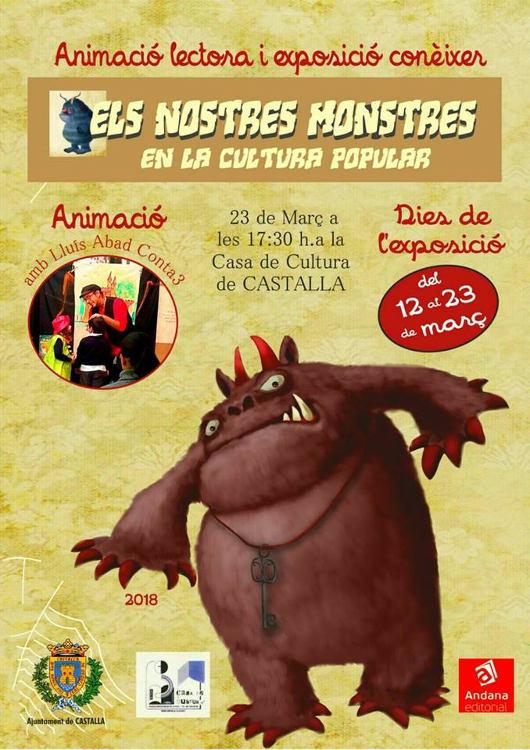 Castalla acull l'exposició 'Els nostres monstres en la cultura popular' del 12 al 23 de març